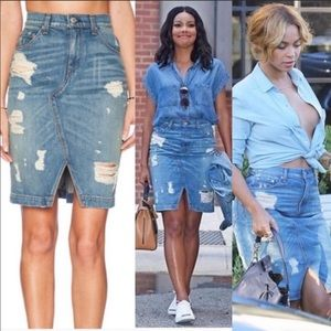 Rag & Bone Jean Skirt - worn by Beyoncé!